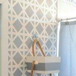 DIY Taped Trellis Pattern