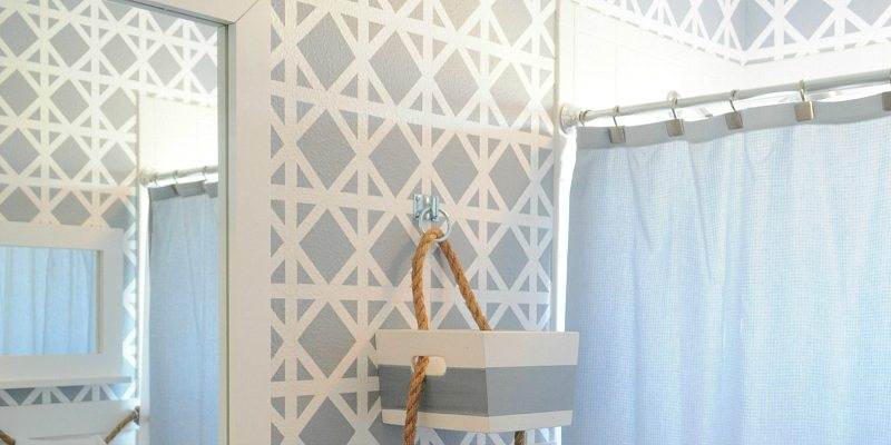 DIY Taped Trellis Pattern