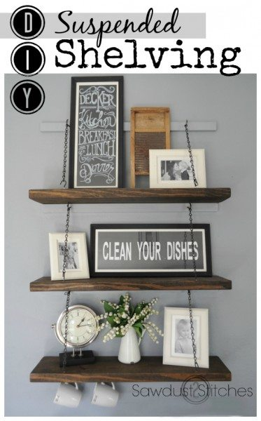 Easy DIY shelving by Sawdust2stitches