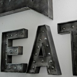 Faux metal sign 400x800