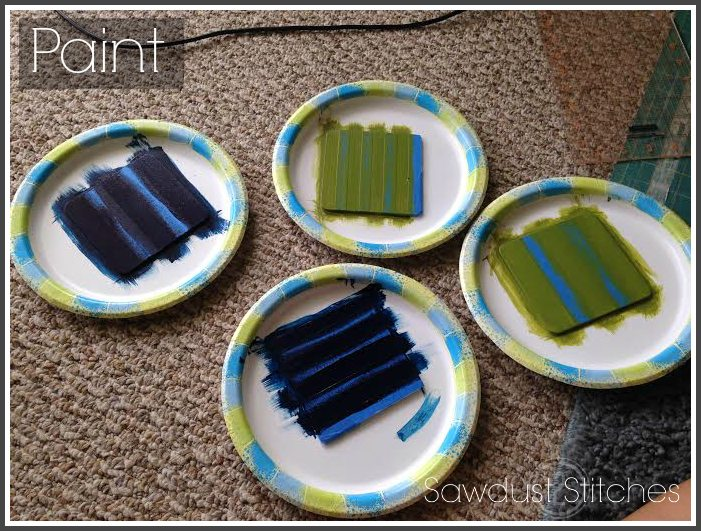 coasters  paint stripes ss