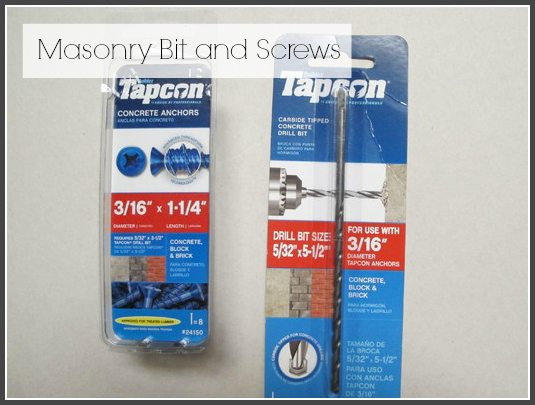 masonry  bit ad screws ss