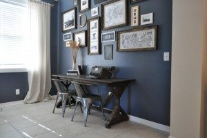 Wall Color:  Blue Gray Slate by: Glidden