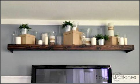 Staging a shelf candles ss