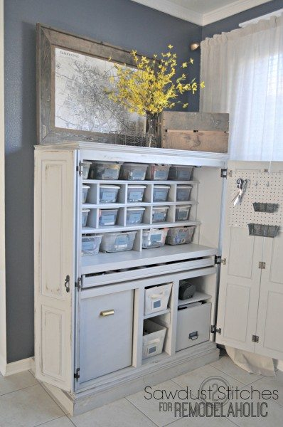 craft cabinet makeover remeodelaholic
