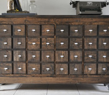 Ikea Cubbies into a Rustic Apothecary