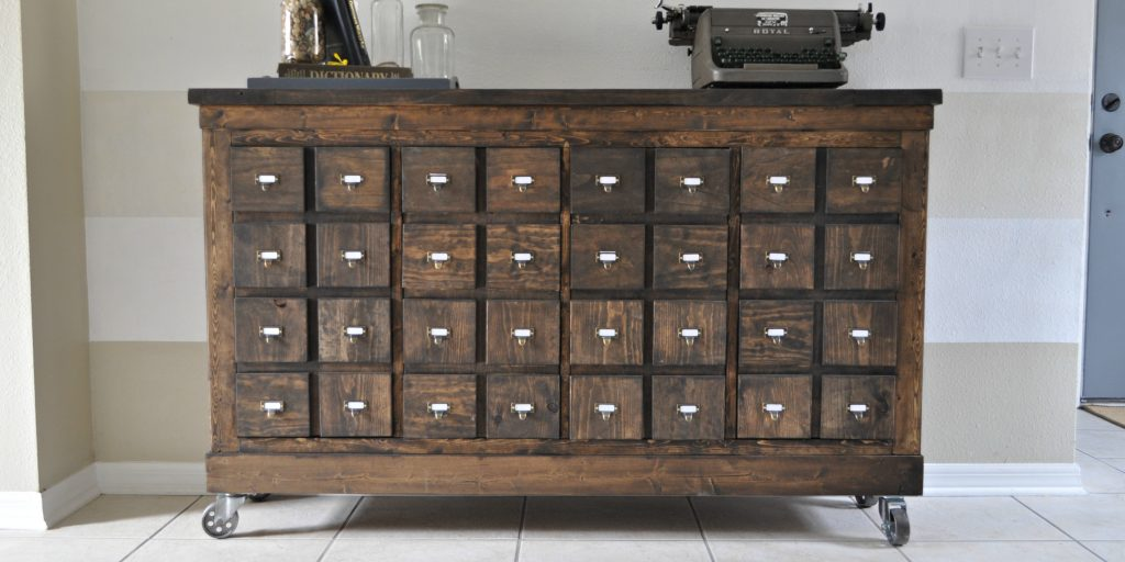 Ikea Cubbies Into A Rustic Apothecary Sawdust 2 Stitches