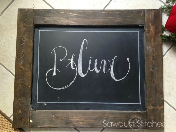Holiday Chalkboard signs sawdust2stitches believe ss
