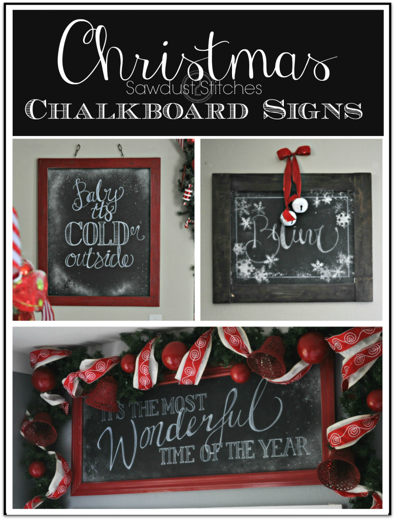 Sawdust2stitches Christmas Chalkboard Signs