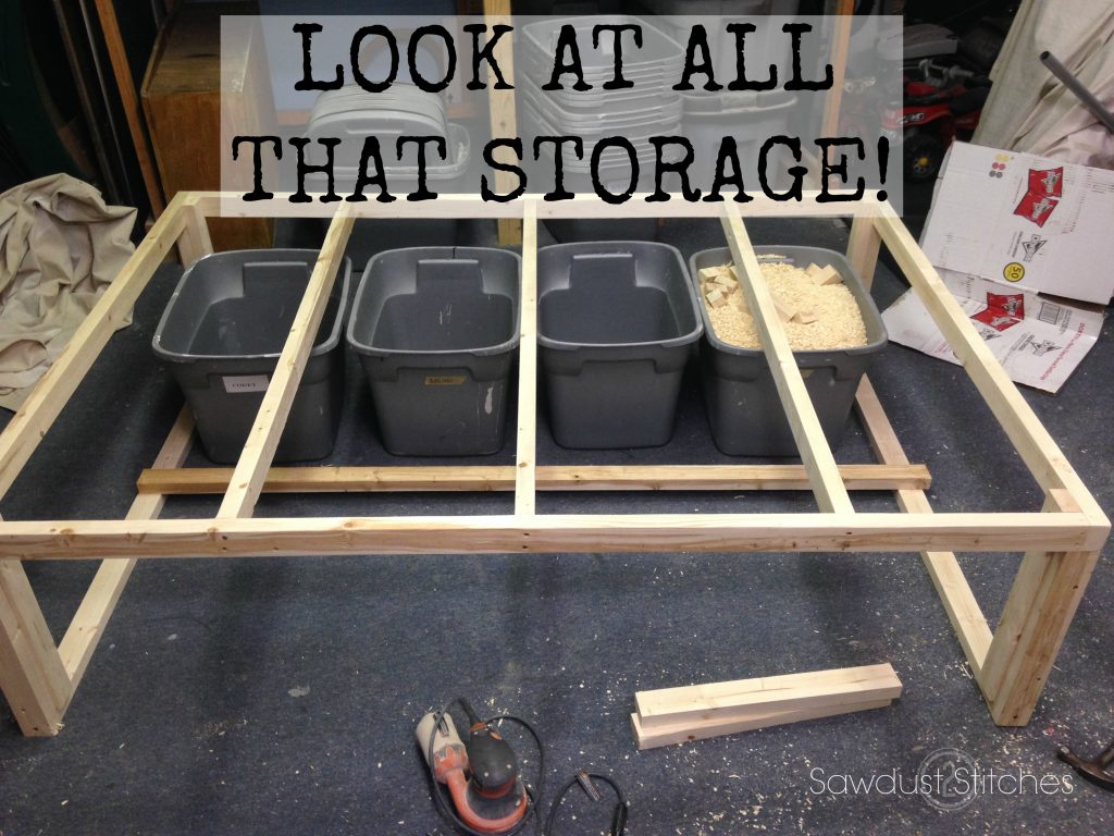 Storage Bed Frame Sawdust2stitches