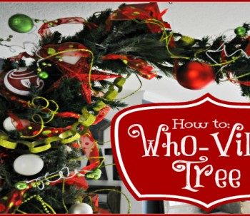How to make a Who-ville Tree !
