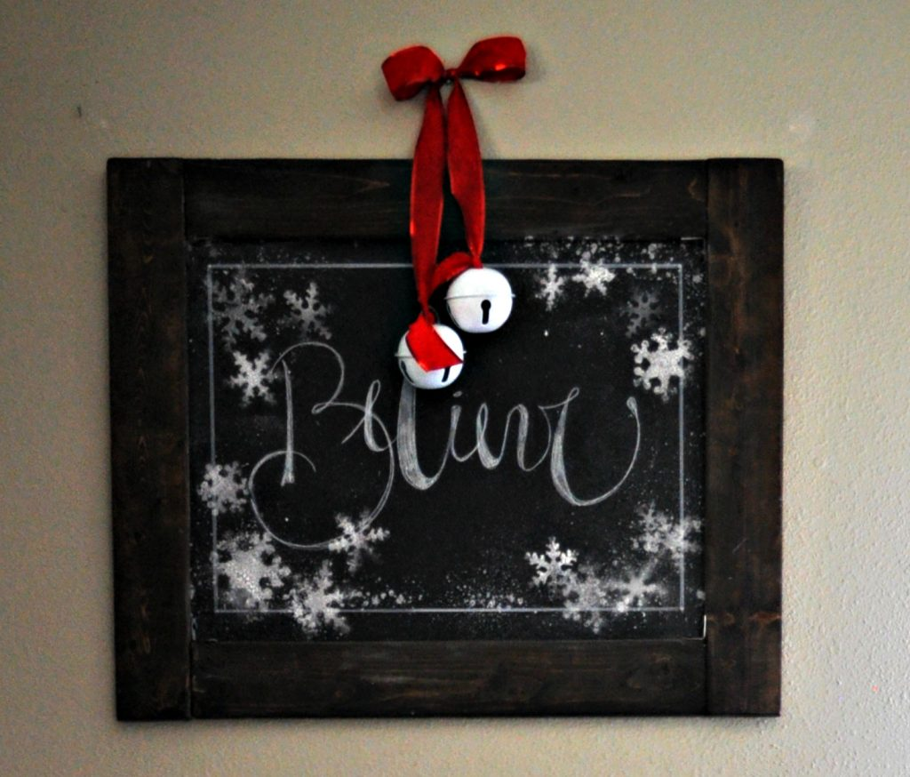 believe chalkboard sign
