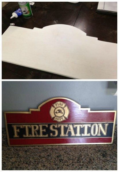 Fire Station Play room Sign