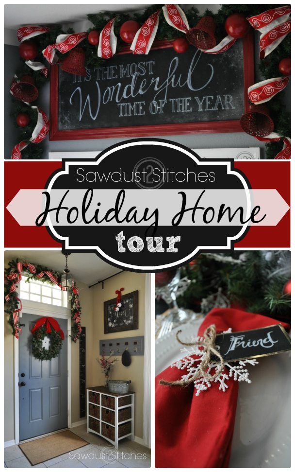 Holiday  Home tour Sawdust2stitches