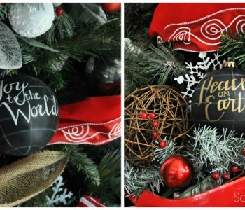 Pottery Barn knock-off ornaments