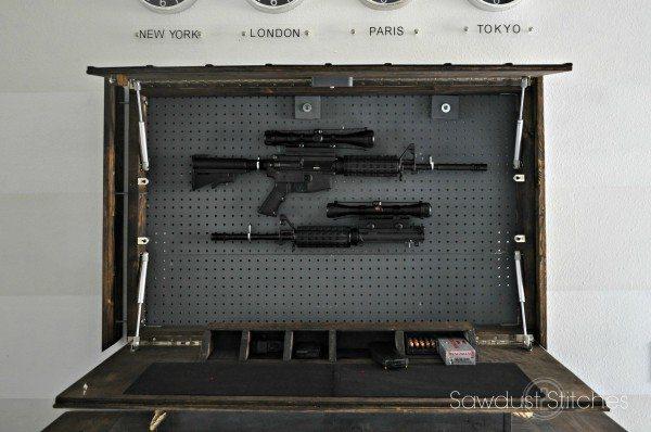 Pottery Barn Inspired Gun Case Sawdust 2 Stitches