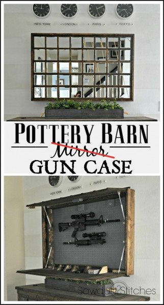 Pottery Barn Inspired Gun Case Sawdust 2 Stitches