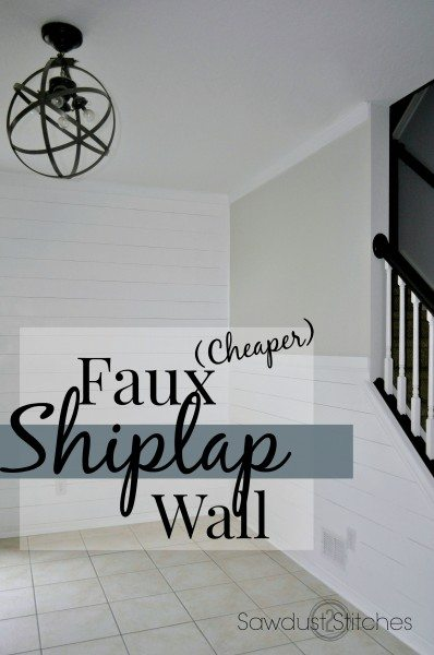 Faux Shiplap Walls An Easy Inexpensive Diy Project