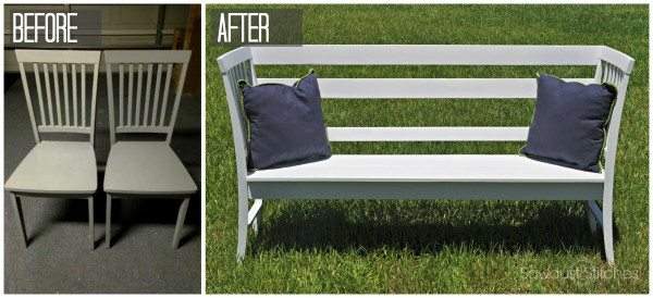 Chairbench before after