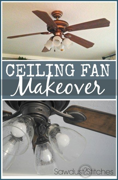 ceiling fan makeover Makeover Sawdust2stitches