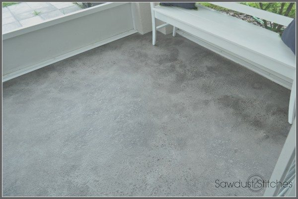 Patio Floor makeover after