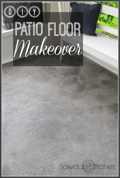 patio floor makeover  text
