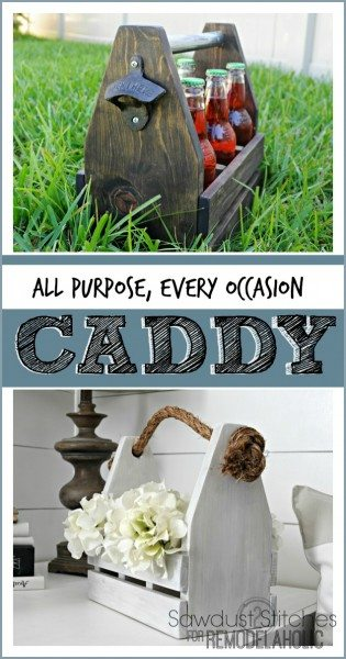 Wooden Caddy SAwdust2stitches for remodelaholic.com