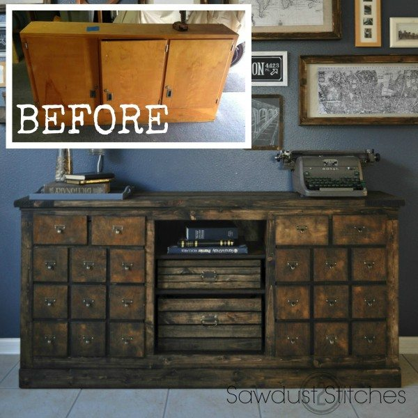 Cabinet Transformed Into A Kitchen Island - Sawdust 2 Stitches