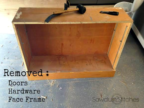 Cabinet makeover Sawdust2stitches.com ss