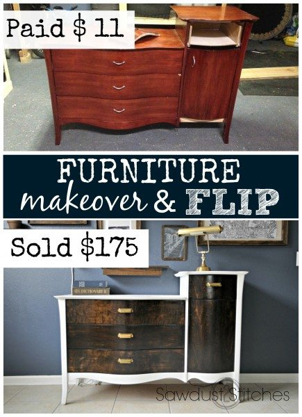 Furniture flip and makeover sawdust2stitches.com