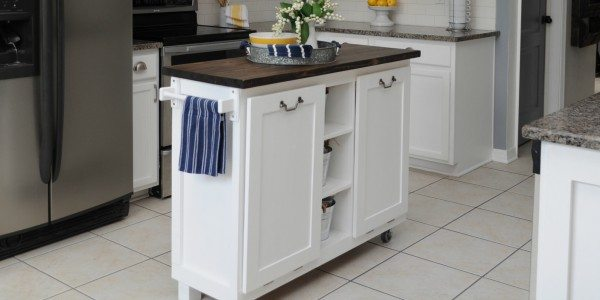 Cabinet Transformed Into A Kitchen Island Sawdust 2 Stitches