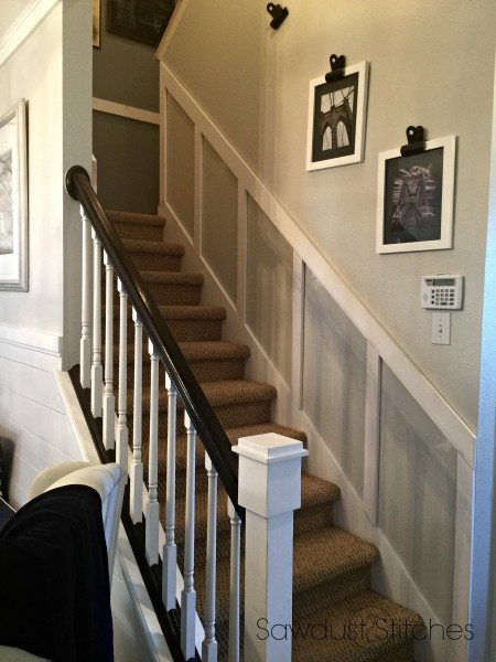 Stair case makeover www. Sawdust2stitches.com