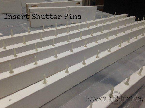 Insert shutter pins sawdust2stitches