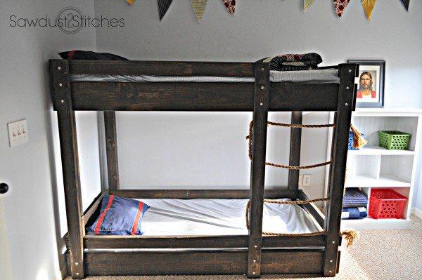 Little Boys' Room bunkbed sawdust2stitches.com