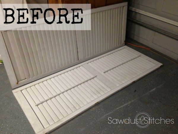 Plantation Shutters Makeover  www.sawdust2stitches.com