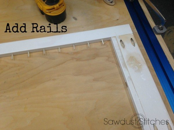 add top rails