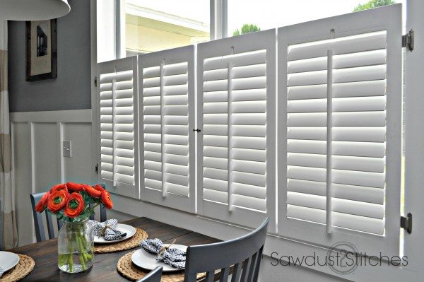 DIY plantation shutters www.sawdust2stitches.com