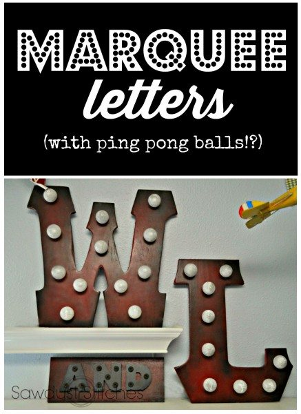 How to make your own wooden marquee letters! www..sawdust2stitches.com