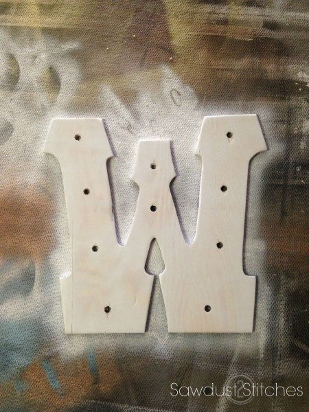 Wooden Marquee letter sawdust2stitches.com