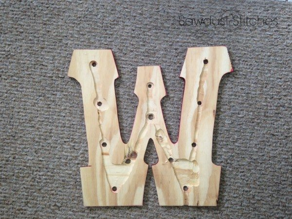 wooden MArquee Letters route out back sawdust2stitches.com