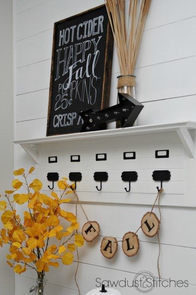 DIY simple fall chalkboard sign by swadust2stitches