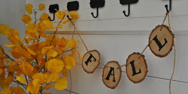 Rustic Wood Slice Fall Banner