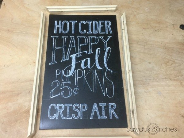 Make your own fall chalkboard sign sawdust2stitches.com
