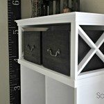 Media Cabinet Makeover into a Locker