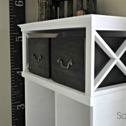 Transform a media cabinet into an entry locker