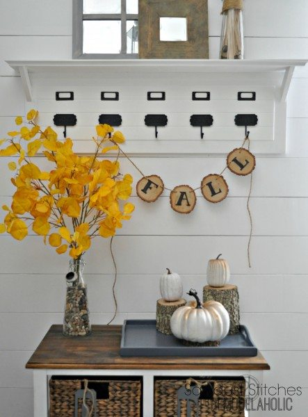 diy fall banner sawdust2stitches for remodelaholic.com