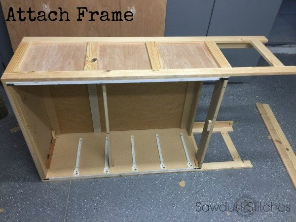 dresser re purpose attach frame sawdust2stitches