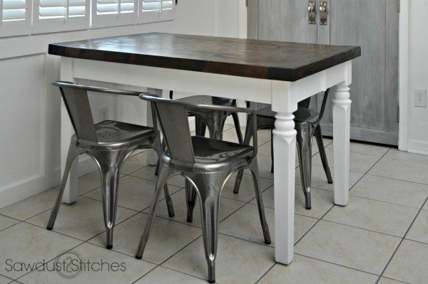 Farmhouse Table Made From Recycled Pieces