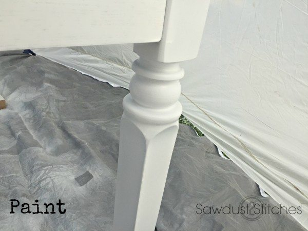 Paint using home right sprayer. Perfect finish in minutes.