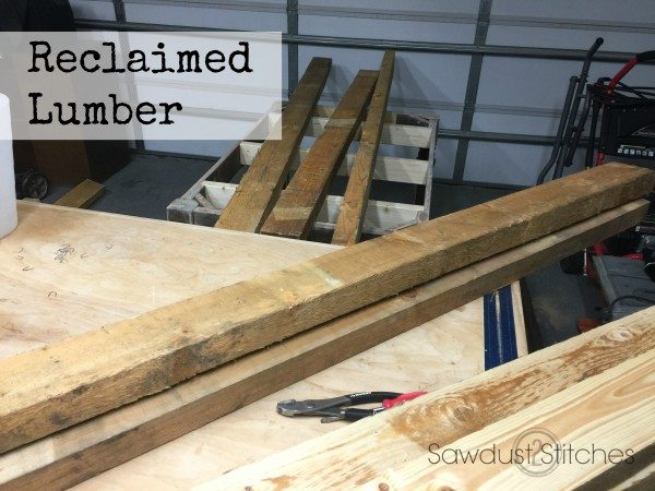 reclaimed lumber for table top sawdust2stitches.com